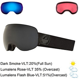 Dragon X2 Goggles 2018, Knight Rider-Dark Smoke + Bonus Lens, 256
