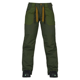 Burton Veazie Womens Snowboard Pants, Forest Night-Rifle Green, 256