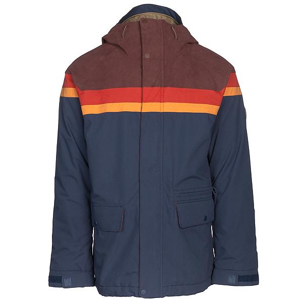 Burton Docket Mens Insulated Snowboard Jacket, Chestnut Cord-Clay-Golden Oak-, 600