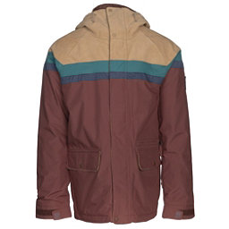 Burton Docket Mens Insulated Snowboard Jacket, Kelp Cord-Jasper-Mood Indigo-C, 256