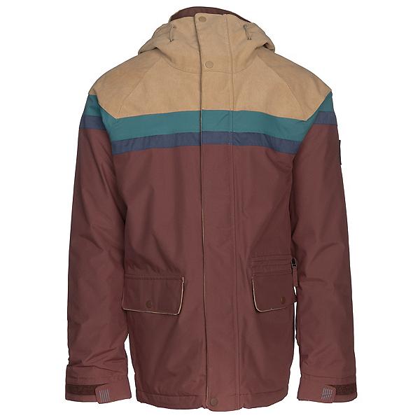 Burton Docket Mens Insulated Snowboard Jacket, Kelp Cord-Jasper-Mood Indigo-C, 600