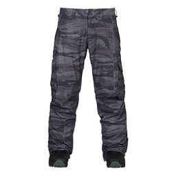 Burton Cargo Mens Snowboard Pants, Faded Worn Tiger, 256