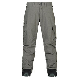 Burton Cargo Tall Mens Snowboard Pants, Shade Heather, 256