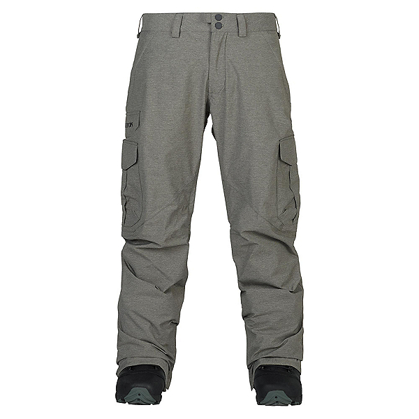 Burton Cargo Tall Mens Snowboard Pants, Shade Heather, 600