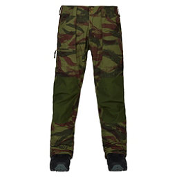 Burton Southside Slim Fit Mens Snowboard Pants, Brush Camo-Rifle Green, 256