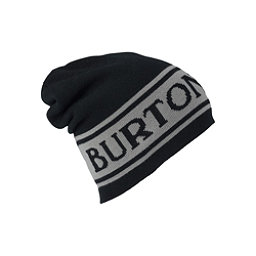 Burton Billboard Slouch Beanie Hat, True Black-Iron Gray, 256