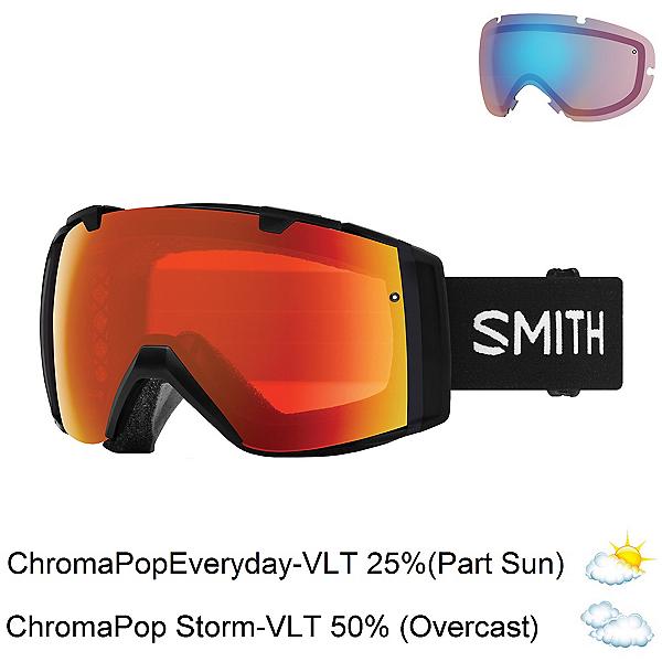 Smith I/O Goggles, Black-Chromapop Everyday Red M + Bonus Lens, 600