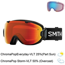 Smith I/OS Womens Goggles, Black-Chromapop Everyday Red M + Bonus Lens, 256