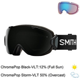 Smith I/OS Womens Goggles, Black-Chromapop Sun Black + Bonus Lens, 256