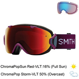 Smith I/OS Womens Goggles 2018, Grape Split-Chromapop Sun Red + Bonus Lens, 256
