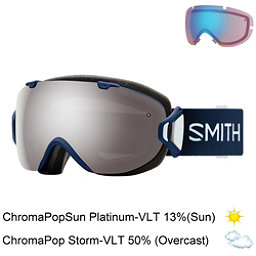 Smith I/OS Womens Goggles, Navy Micro Floral-Chromapop Su + Bonus Lens, 256
