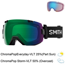 Smith I/OX Goggles 2018, Black-Chromapop Everyday Green + Bonus Lens, 256