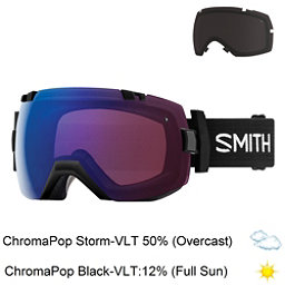 Smith I/OX Goggles 2018, Black-Chromapop Storm Rose Fla + Bonus Lens, 256