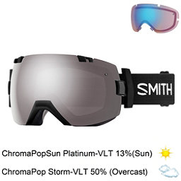 Smith I/OX Goggles 2018, Black-Chromapop Sun Platinum M + Bonus Lens, 256