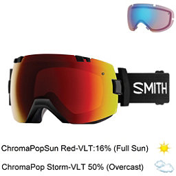 Smith I/OX Goggles 2018, Black-Chromapop Sun Red Mirror + Bonus Lens, 256