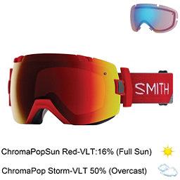 Smith I/OX Goggles 2018, Fire Split-Chromapop Sun Red M + Bonus Lens, 256