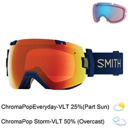 Smith I/OX Goggles 2018, Navy Camo Split-Chromapop Ever + Bonus Lens, 256