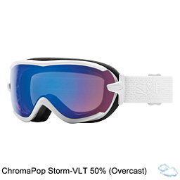 Smith Virtue Womens Goggles, White Mosaic-Chromapop Storm R, 256