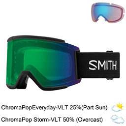 Smith Squad XL Goggles 2018, Black-Chromapop Everyday Green + Bonus Lens, 256