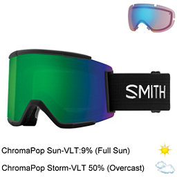 Smith Squad XL Goggles 2018, Black-Chromapop Sun Green Mirr + Bonus Lens, 256