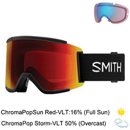 Smith Squad XL Goggles 2018, Black-Chromapop Sun Red Mirror + Bonus Lens, 256
