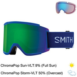 Smith Squad XL Goggles 2018, Klein Blue Split-Chromapop Sun + Bonus Lens, 256
