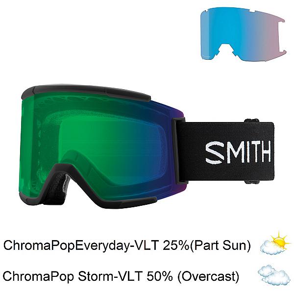 Smith Squad XL Goggles, Black-Chromapop Everyday Green + Bonus Lens, 600