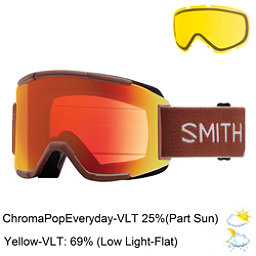 Smith Squad Goggles 2018, Adobe Split-Chromapop Everyday + Bonus Lens, 256