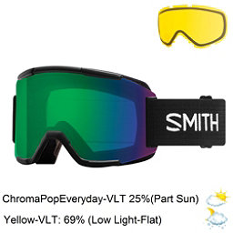 Smith Squad Goggles 2018, Black-Chromapop Everyday Green + Bonus Lens, 256