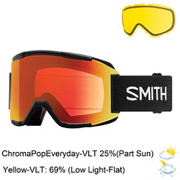 Smith Squad Goggles 2018, Black-Chromapop Everyday Red M + Bonus Lens, 256