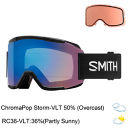 Smith Squad Goggles 2018, Black-Chromapop Storm Rose Fla + Bonus Lens, 256