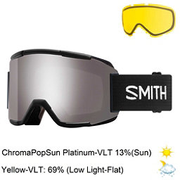 Smith Squad Goggles 2018, Black-Chromapop Sun Platinum M + Bonus Lens, 256