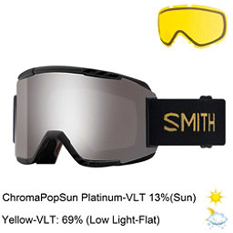 Smith Squad Goggles 2018, Black Firebird-Chromapop Sun P + Bonus Lens, 256