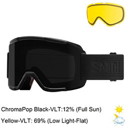 Smith Squad Goggles 2018, Blackout-Chromapop Sun Black + Bonus Lens, 256