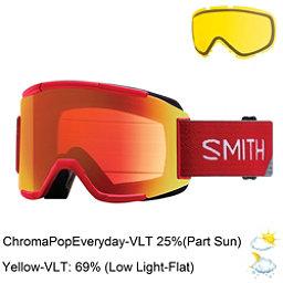 Smith Squad Goggles 2018, Fire Split-Chromapop Everyday + Bonus Lens, 256