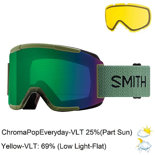 Smith Squad Goggles 2018, Olive-Chromapop Everyday Green + Bonus Lens, 600