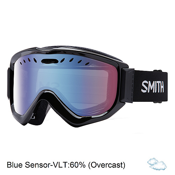 Smith Knowledge OTG Goggles, Black-Blue Sensor Mirror, 600