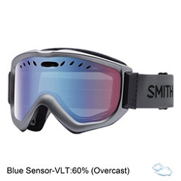 Smith Knowledge OTG Goggles 2018, Graphite-Blue Sensor Mirror, 256