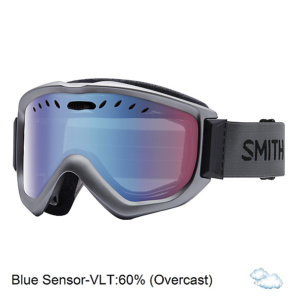 Smith Knowledge OTG Goggles, Graphite-Blue Sensor Mirror, 600