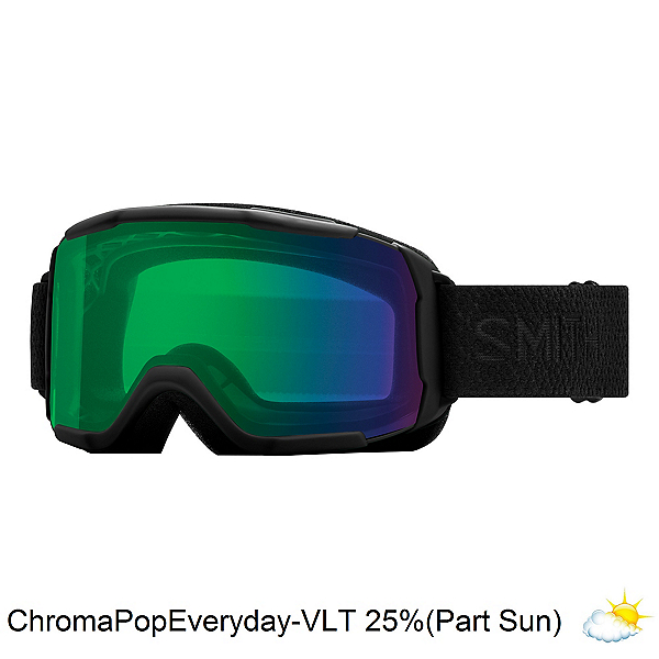 Smith Showcase Womens OTG Goggles 2018, Black Mosaic-Chromapop Everyday Green, 600