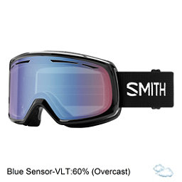 Smith Drift Womens Goggles 2018, Black-Blue Sensor Mirror, 256