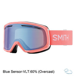 Smith Drift Womens Goggles 2018, Sunburst-Blue Sensor Mirror, 256