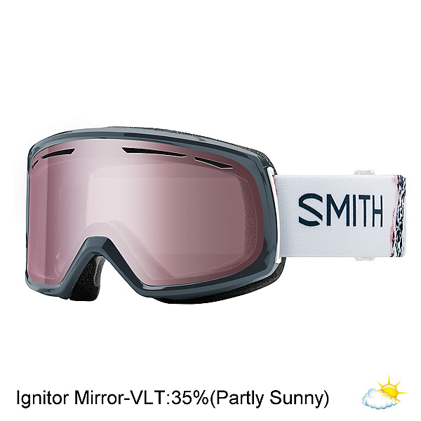 Smith Drift Womens Goggles 2018, Thunder Composite-Ignitor Mirr, 600
