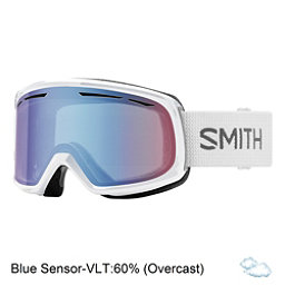 Smith Drift Womens Goggles 2018, White-Blue Sensor Mirror, 256