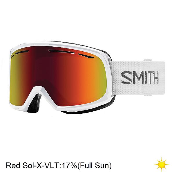 Smith Drift Womens Goggles 2020, White-Red Sol X Mirror, 600