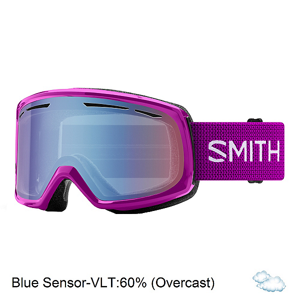 Smith Drift Womens Goggles 2020, Fuchsia-Blue Sensor Mirror, 600