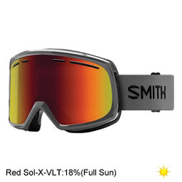 Smith Range Goggles 2018, Charcoal-Red Sol X Mirror, 256