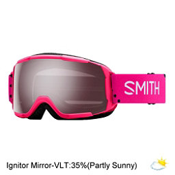 Smith Grom Jr. Girls Goggles 2018, Pink Monaco-Ignitor Mirror, 256