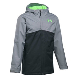 Under Armour ColdGear Infrared Freshies Boys Ski Jacket, Anthracite-Quirky Lime, 256