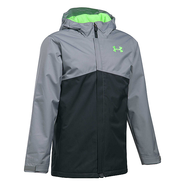 Under Armour ColdGear Infrared Freshies Boys Ski Jacket, Anthracite-Quirky Lime, 600